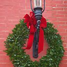 Simple green wreath by Penny Rinker