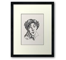 Portrait of a Consulting Detective Framed Print