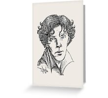 Portrait of a Consulting Detective Greeting Card