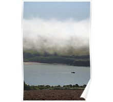 Sea fog on the Erme Estuary, South Hams, Devon, England, UK Poster