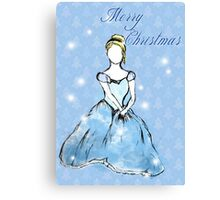 Cinderella- Merry Christmas Canvas Print