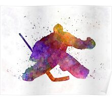 Hockey porter in watercolor Poster