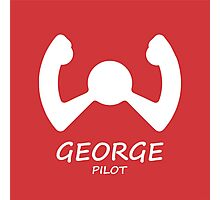 Red George Pilot Photographic Print
