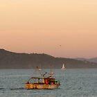 Sunset on San Francisco Presidio Coast - 4:59pm by photoartful