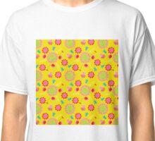 Mexico Folk Floral Print Classic T-Shirt