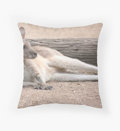 Kangaroo Lazing Throw Pillow