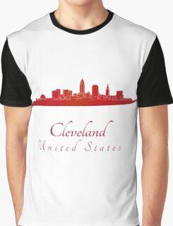 Cleveland skyline in red Graphic T-Shirt