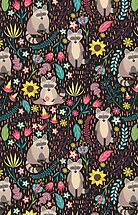 Raccoons bright pattern by JuliaBadeeva