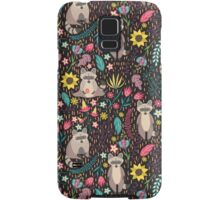 Raccoons bright pattern Samsung Galaxy Case/Skin