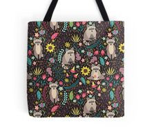 Raccoons bright pattern Tote Bag