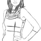 Jill Flint(uncolored) by KelceyHeadey