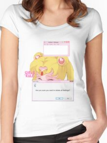 Sailor Moon - Crybaby Women's Fitted Scoop T-Shirt