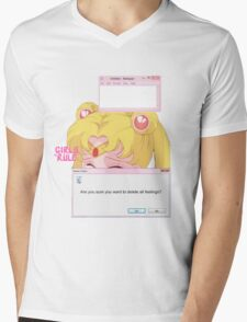 Sailor Moon - Crybaby Mens V-Neck T-Shirt