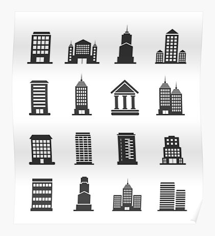 Building office an icon Poster