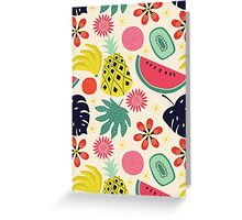 Tropicana Fruits Greeting Card