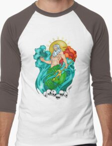 Poseidon Men's Baseball ¾ T-Shirt