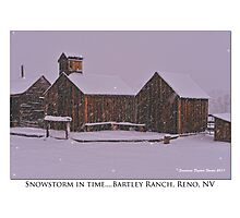 """Snowstorm in time"" Bartley Ranch, Reno, NV Photographic Print"