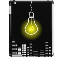 Bulb over a city iPad Case/Skin