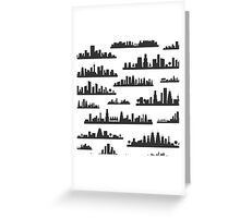 City a background Greeting Card