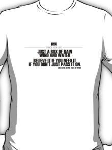 Grateful Dead Lyric - Box of Rain T-Shirt
