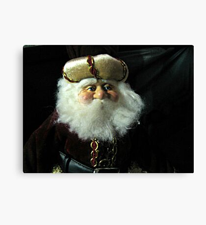 A Russian Saint Nicholas Doll Canvas Print