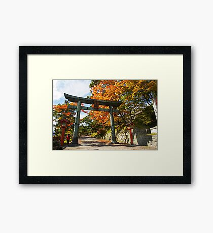 Japan, Tochigi, Nikko, Torii  Framed Print