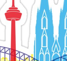 Cologne skyline pop Sticker