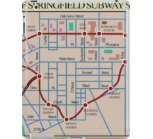 Springfield Subway System Map iPad Case/Skin