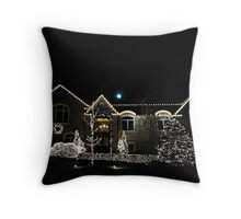 Beautiful Home Lit For Christmas Throw Pillow