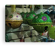 Glitter Jingle Bells For Your Tree Canvas Print