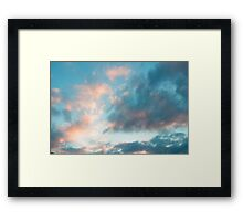 candy clouds Framed Print