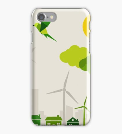 Ecology a city iPhone Case/Skin