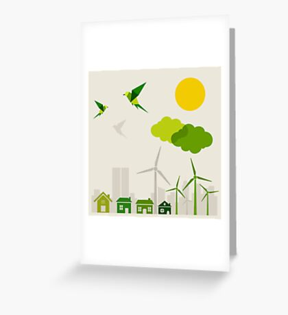 Ecology a city Greeting Card