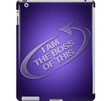I am the boss of this - swirl arrow iPad Case/Skin
