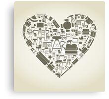Furniture heart Canvas Print