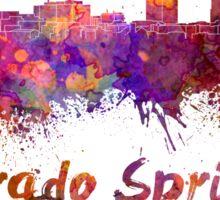 Colorado Springs skyline in watercolor Sticker