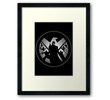 Metallic Shield Framed Print