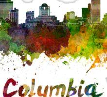 Columbia skyline in watercolor Sticker