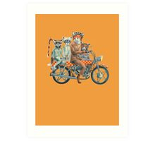 Fox Ride Art Print