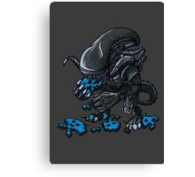 ALIEN EATS ALIEN Canvas Print