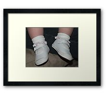 My First Pair of Keds.... Framed Print