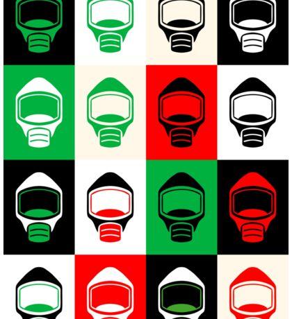 Emergency Escape Mask Smoke Hood Icon Sticker
