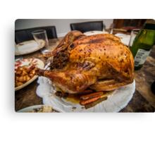 thanksgiving turkey dinner Canvas Print