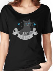 Crazy Cat Lady Banner Women's Relaxed Fit T-Shirt