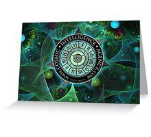 Cosmic Intelligence Agency Greeting Card