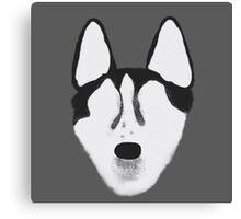 Minimalist Siberian Husky Canvas Print