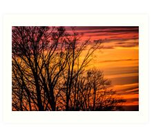 REDREAMING FIRE IN THE SKY Art Print