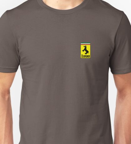 The Lego Ferrari Logo (Small Logo) Unisex T-Shirt