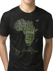 BG Colletions Tee Green Africa  Tri-blend T-Shirt