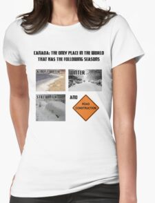 Canadian Weather Womens Fitted T-Shirt